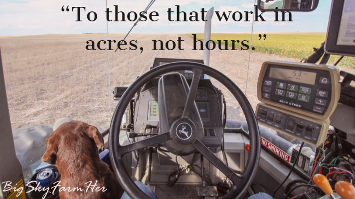 What does it mean to work in acres not hours?