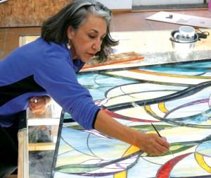 Dana Boussard in her studio.