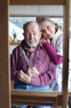 Jack Hines and Jessica Zemsky in their Big Timber, Montana, art studio.