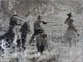 "PAST VANISHING   acrylic on canvas   33"" X 40"""