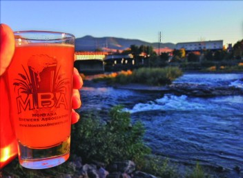 Brews against the beauty of the Clark Fork River in Missoula.
