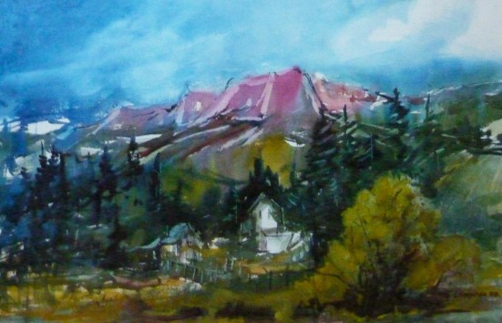 """""""Looking East from Virginia City"""" 