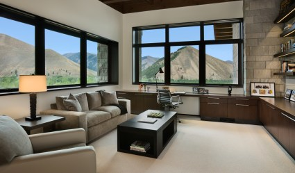 Right: Functional space for retreat or life management is meticulously designed for beauty as well as business.