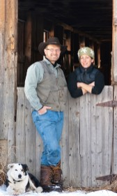 Richard and Katy Harjes own Willow Spring Ranch north of Bozeman, Mont. The couple raises organic lamb and employs border collies like Fat Boy, pictured, to work the sheep.