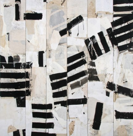 """Jerry Iverson   """"Nerve Block 39""""   Sumi Ink and Paper on Board   79"""" x 78"""""""