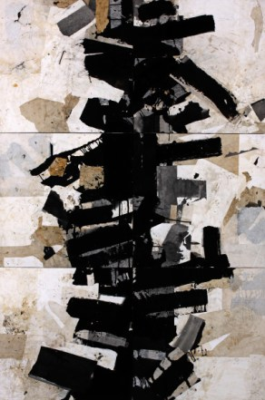 """Jerry Iverson   """"Darwin's Tree 10""""   Sumi Ink and Paper on Board   72"""" x 48"""""""