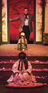"""Soprano Cynthia Clayton and Tenor Brian Jagde brought Butterfly and Pinkerton to life in IOB's 2012 production of Madama Butterfly. Siri Saeteren, a local kindergartener at the time, played the role of """"Trouble,"""" the couple's love child. 