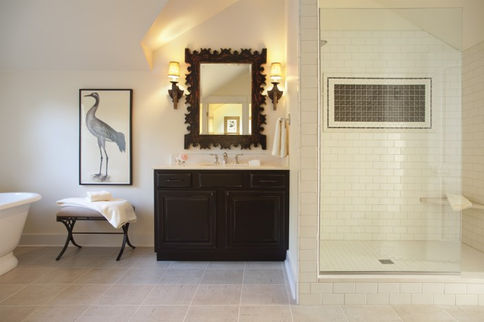 Each guest room has its own bathroom to allow for privacy. Unique design elements and hand-picked details give variety to every space.