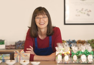 """Standing at the counter of her successful gourmet caramel business, Robin Béquet has a lot to smile about. """"I think we are very lucky,"""" she said. But nothing about her artisan caramel business is a fluke, Béquet's calculated approach and sharp business sense brought the company to life and made it a success."""