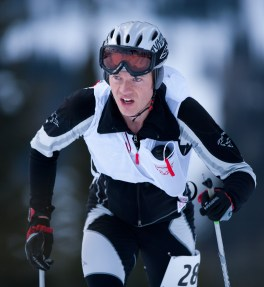 A leader in the growing skimo racing circuit, Whitefish firefighter and two-time U.S. Ski Mountaineering champion, Brandon French, has competed in the Ski Mountaineering World Championships in Europe. Photo by: Noah Clayton