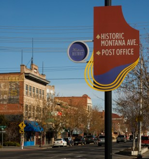 Revitalized historic Montana Avenue.