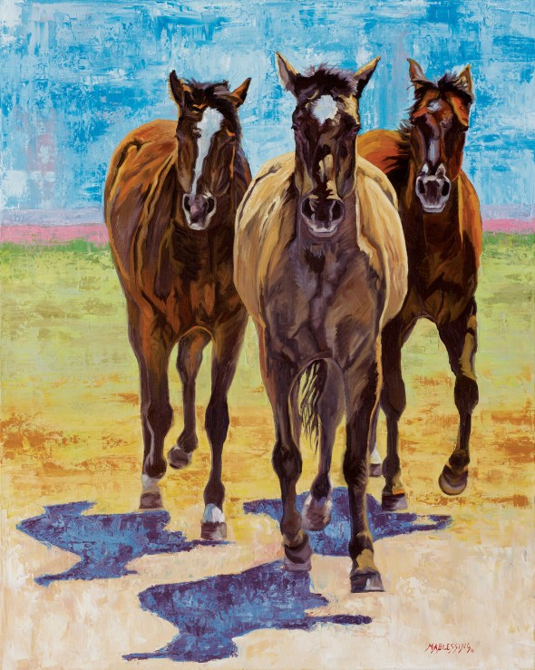 """""""Here Comes Trouble""""   Meagan Blessing   Oil   30"""" x 24"""""""