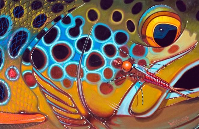"""Brown Rubberlegs,"" illustration by Derek DeYoung"