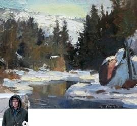 """Creek Study""   Oil on Canvas   8"" x 10""   By David Slonim"