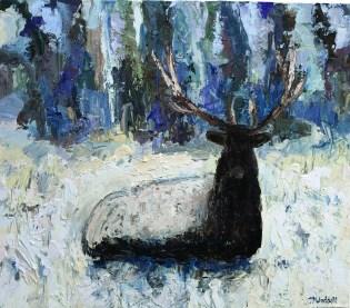 """""""Deer Creek Bull #2""""   Oil   42"""" x 48"""""""