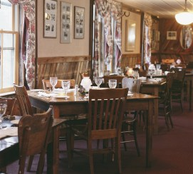 "The dining room in the main restaurant at Chico is a blend of rustic elegance where the dress code is ""come as you are"" and the food is renown throughout the state. Photo courtesy of Chico Hot Springs"