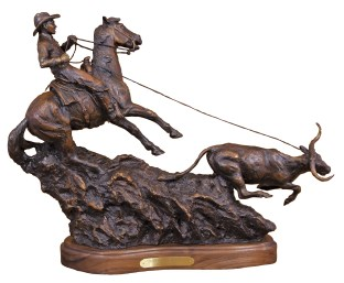 """""""Down Hill From Here""""   2009   Bronze  Limited Edition of 15   27"""" x 21"""""""