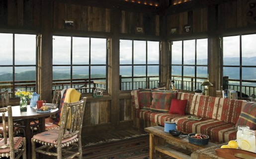 The fire lookout is 200-square feet and used for everything from sleepovers to small conferences.