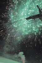 Fireworks light up the sky at Schweitzer Mountain Ski Resort.