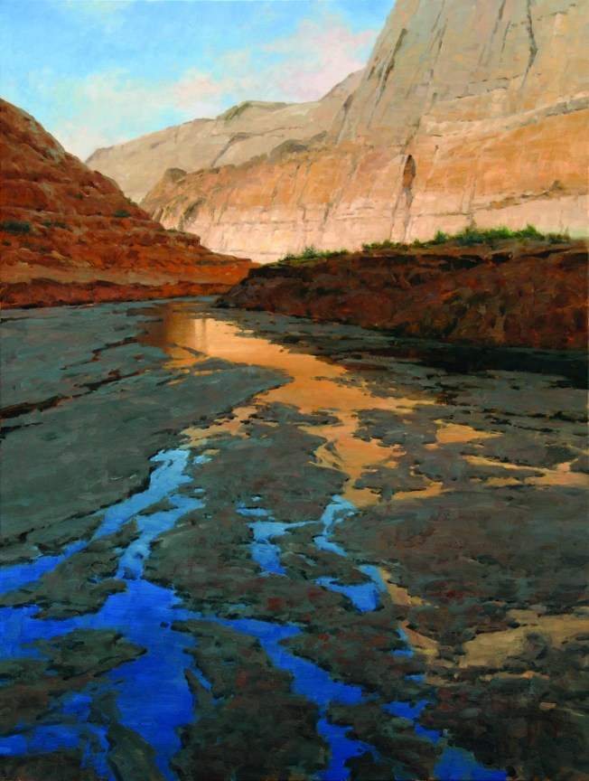 """Moki Canyon Reflections""   Oil on Linen   40"" x 30"""