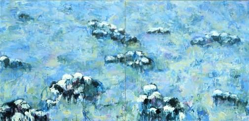 """""""Monet's Sheep""""   Oil   70"""" x 120"""""""