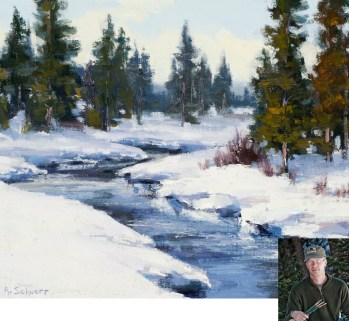 """Obsidian Creek"" | Oil on Canvas | 9"" x 12"" | By Aaron Schuerr"