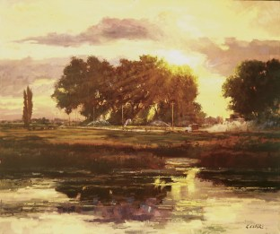"""Summer Morning"" | Robert Moore | Oil on Canvas | 36"" x 48"""