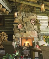 Chilly Montana mornings are no deterrent for outdoor living at this cabin. The stone hearth provides warmth while the deer, turkeys, and wildlife provide the entertainment.