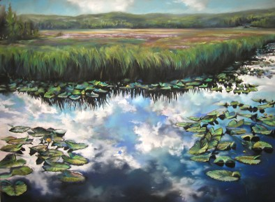 """""""Yellowstone Reflections""""   Soft Pastel   19 x 25 inches"""