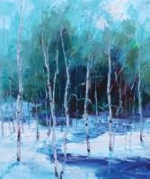 """Winter Beauty""   Oil on Canvas   20"" x 16"""