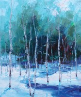 """Winter Beauty"" | Oil on Canvas | 20"" x 16"""