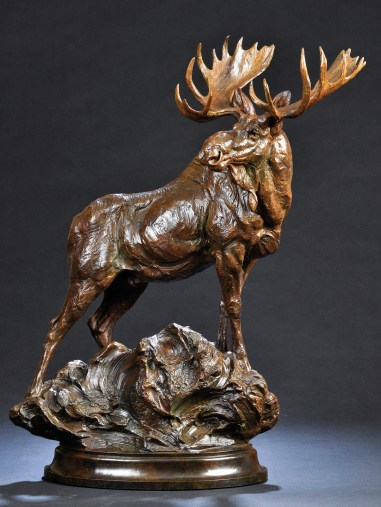 """Woodland Bull"" | Bronze | 28 x 24 x 9 inches"