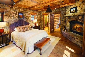 Most of the guest bedrooms and bathrooms have individual design touches.
