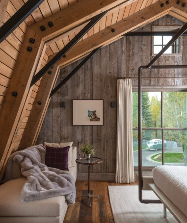 """MRL owner Mike Halverson said, """"The material has gone into a number of projects over the last couple of years, but one in particular really stands out."""" The residential barn structure was designed by Carney Logan Burke Architects and built by Benchmark Builders."""