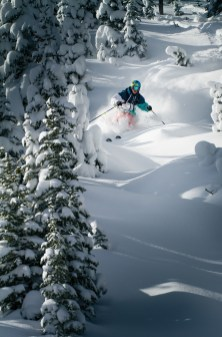 The numerous gladed areas on Big Sky's Andesite Mountain offer powder-filled pockets that many locals seek out after a big storm. The resort added four new tree runs for this winter. | Photo by Ryan Day Thompson