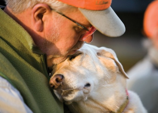 Hunter Andy Cook with his yellow lab, Pip. The bond between hunter and dog just grows stronger with each passing year.