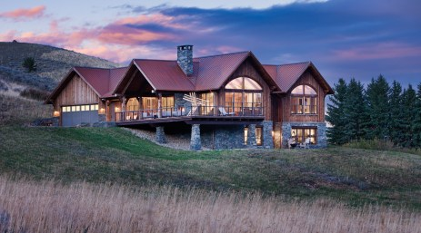 Designed by architect Andrew Porth and built by Timberline Builders, the home was inspired by the land and traditions that surround it.