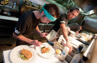 Line lead Adam Stewart, left, and sous chef Christian Dinkel, have worked with Stimpson in some of Billings' best kitchens.