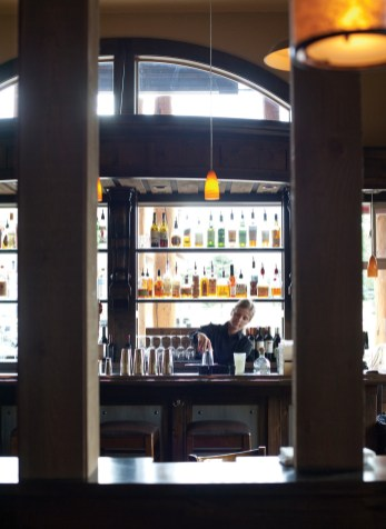 Serving beer, wine and alcohol, Olive B's features a full service bar.