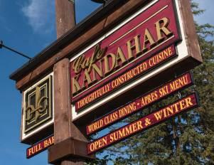 Café Kandahar opens mid-December through March and mid-June through September.