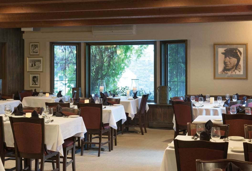 Heightened dining at Café Kandahar at the edge of Whitefish Mountain Resort.