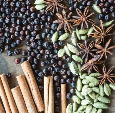 Here's a handful of the 12 different botanicals used to flavor Bozeman Spirits' Ruby River Gin.