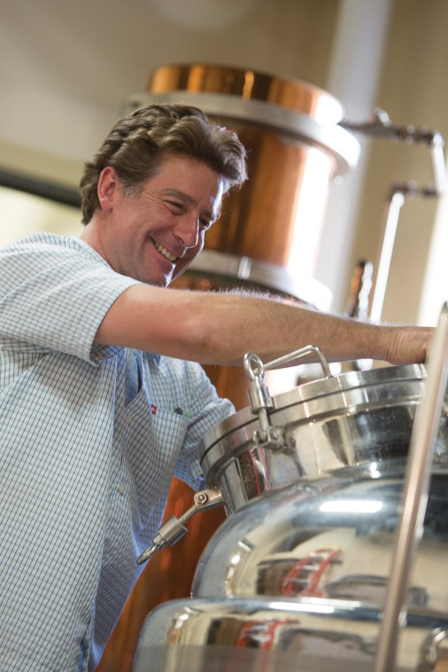 Head distiller Thomas McGuane ensures that everything runs smoothly while overseeing the production of 200 gallons of spirits per week.