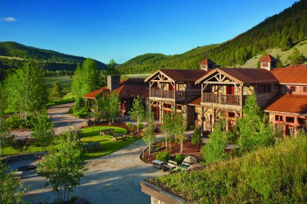 """A porte cochère extends from the tower's midsection and connects the home to the guest house. The residence is snuggled in a canyon at an elevation of 8,500 feet and is near a ski resort that receives 300 inches of snow annually. The roof's design incorporates steel beams for support along with ventilation and insulation to keep the home's dissipating heat from melting the snow and forming ice dams. The roof's membrane is also left intact for insulation. It's the technical aspect of """"art-itecture,"""" Matt Faure said."""