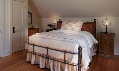 Bed frames, side tables, and fabrics were sourced from the Montana Expressions showroom.