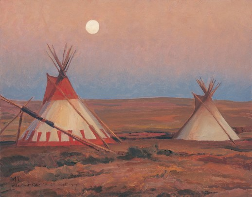 "Maynard Dixon | ""Evening on Blackfoot Reservation"" (detail) 