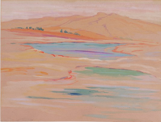 "Arthur Wesley Dow | ""Yellowstone National Park"" (detail) 
