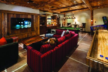 Kids (and adults) can escape to the game room on the lower floors for evening entertainment.