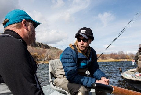 During a 2016 October session, Pat Straub and Garrett Munson's Montana Fishing Guide School met on the Upper Madison River, with curriculum covering the well-appointed gear bag, how to offload your driftboat from its trailer, and tips on the best brown-bag lunch. Photo by Allen M. Jones
