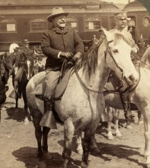 Eighteen years later, President Roosevelt visited Gardiner and Yellowstone National Park as part of an eight-week, 25-state tour of the West. Photo courtesy of Library of Congress